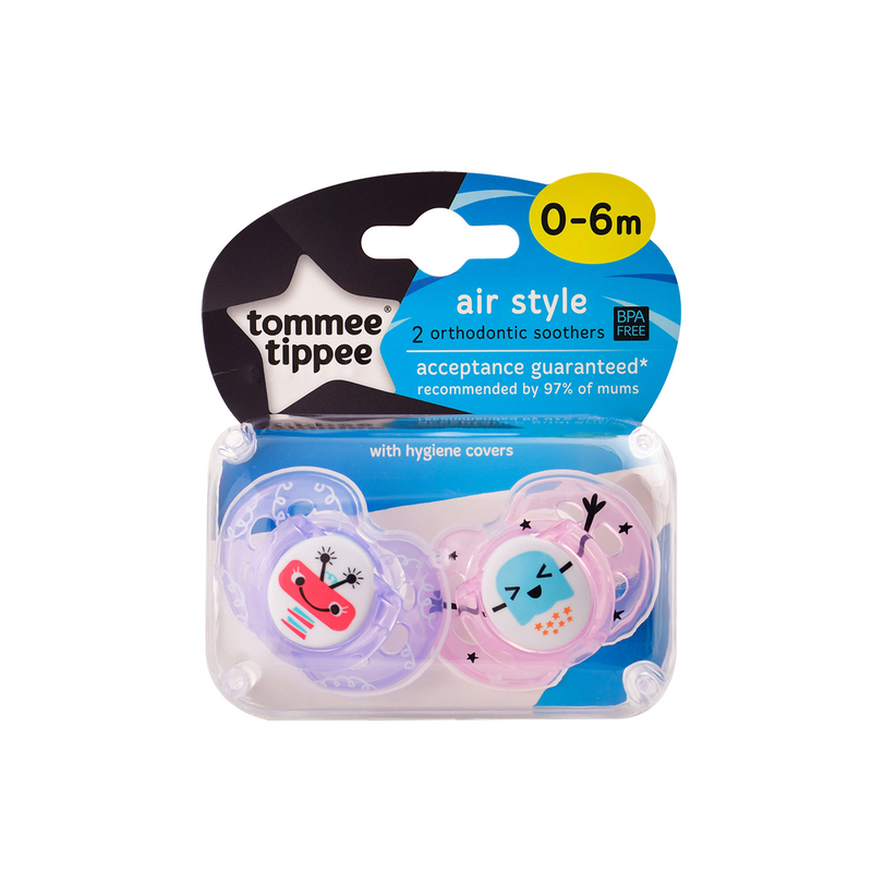 Tommee Tippee 0-6m Air Soother x2pcs