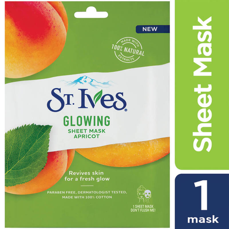 St Ives Glowing Sheet Mask Apricot 1s