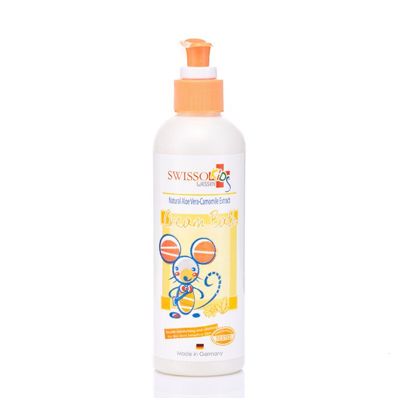 Swisso Baby Kids Natural Aloe Vera Camomile Cream Bath 250mL