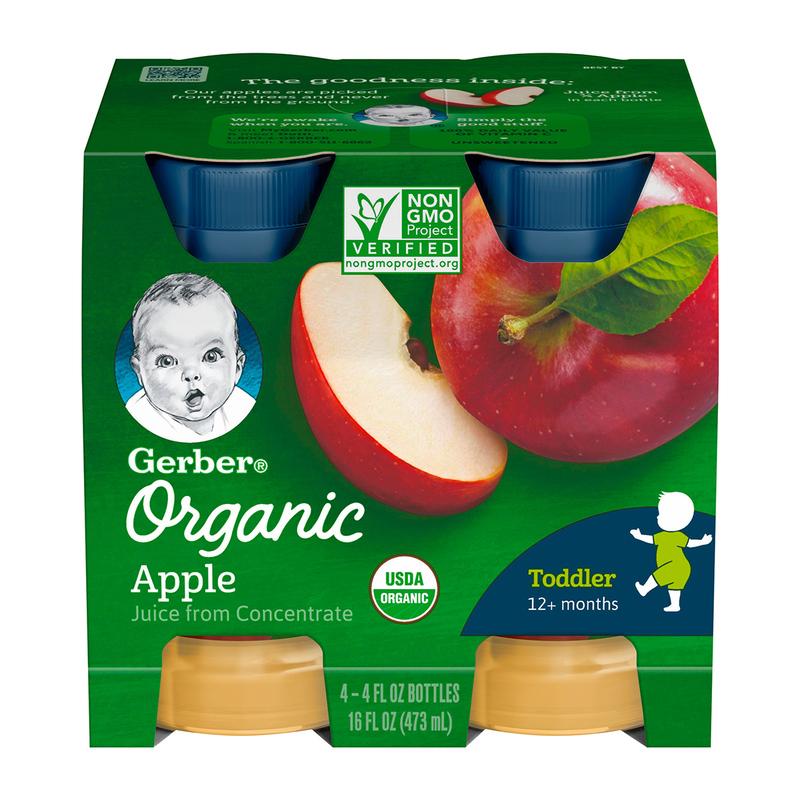 Gerber Organic Apple Juice 118mLx4