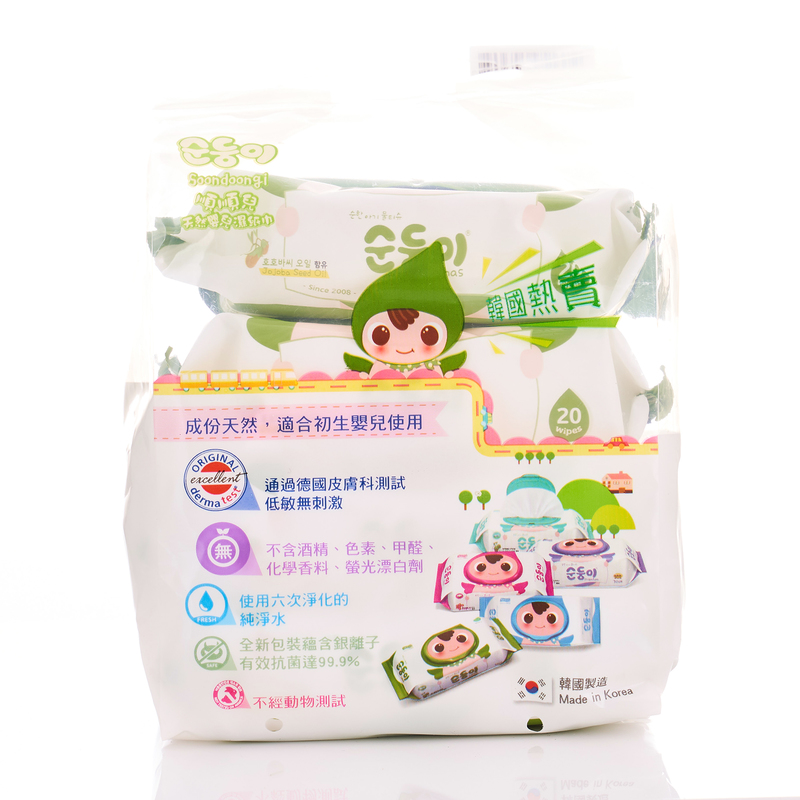 Soondoongi Lohas Wipes 20pcs X4bags