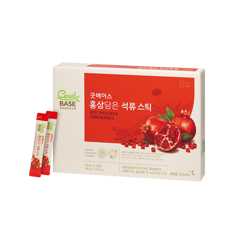 Cheong Kwan Jang  Goodbase Korean Red Ginseng with Pomegranate 10ml x 30 sticks