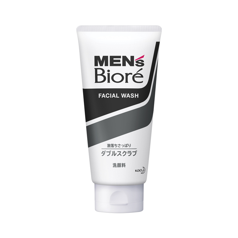 Biore Men's Facial Wash - Double Scrub with Black & White Beads