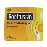 Robitussin Medicated Lozenges Honey Lemon, 24pcs