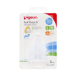 Pigeon SofTouch Peristaltic PLUS Wide-Neck Nipple Large