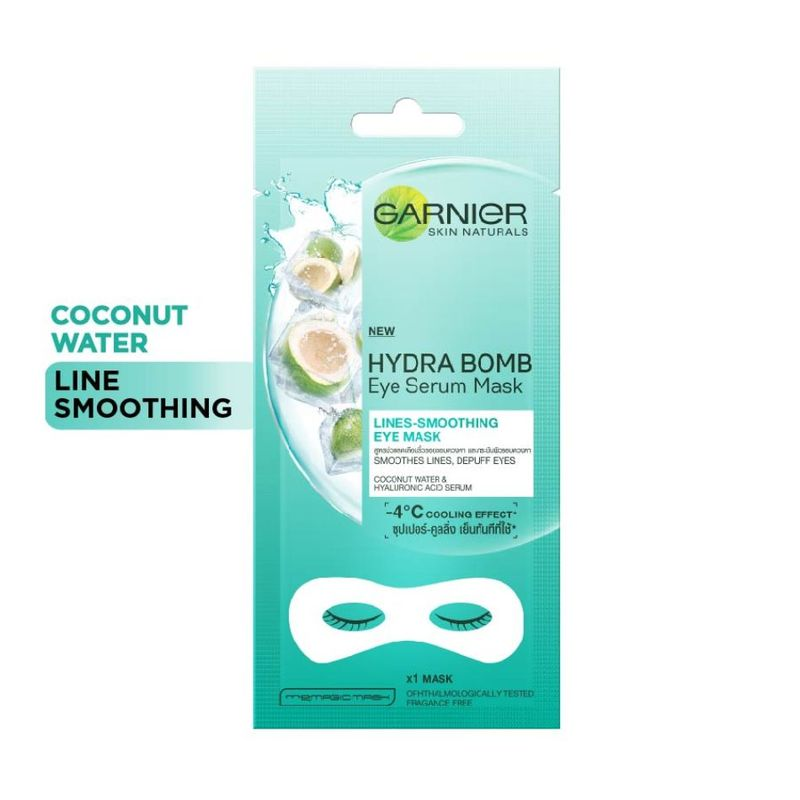 Garnier Hydra Bomb Coconut Eye Serum Mask - Lines-Smoothing Eye Mask