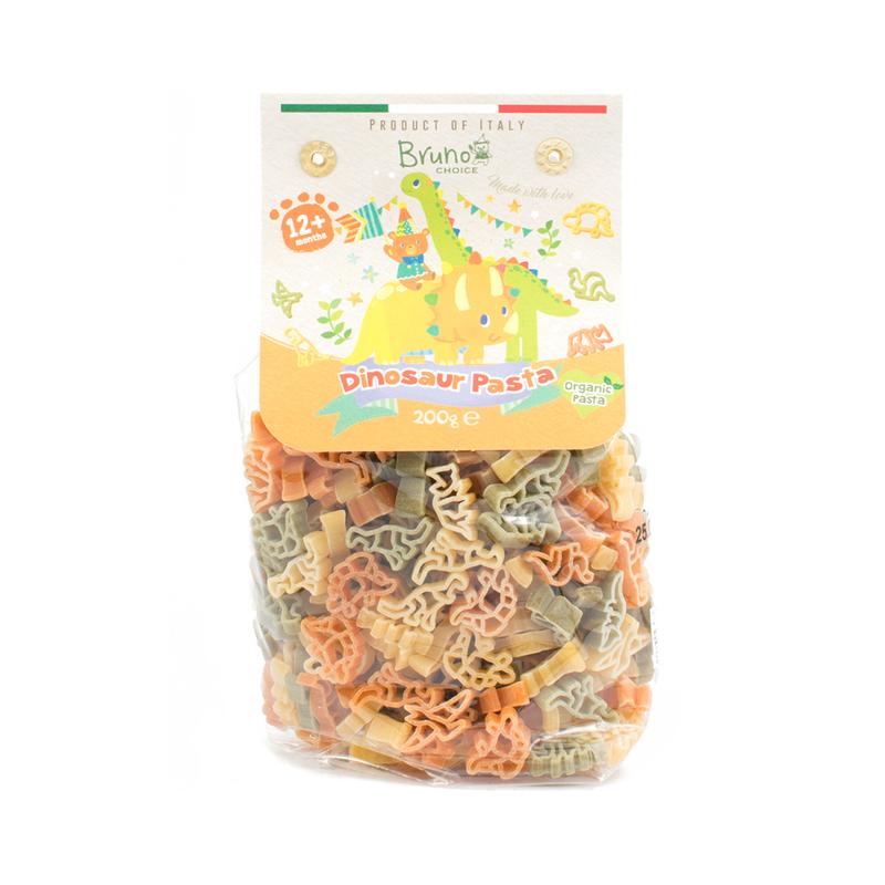 Bruno Choice Organic Dinosaur Pasta (12 Month+ Baby) 200g