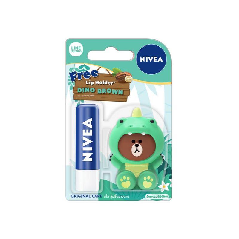 Nivea Lips Original Care with Free Dino, 4.8g