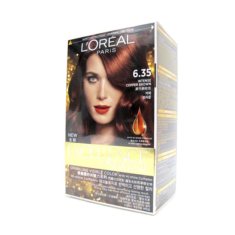 L'Oreal Excellence Fashion Hair Colour 6.35 Intense Copper Brown