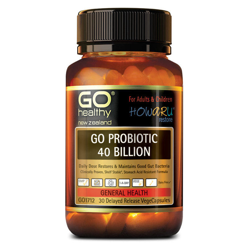 GO Healthy Probiotic 40 Billion, 30 capsules