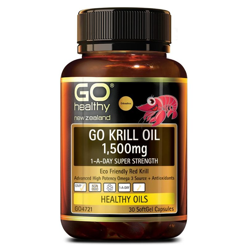 GO Healthy Krill Oil 1500mg, 30 capsules