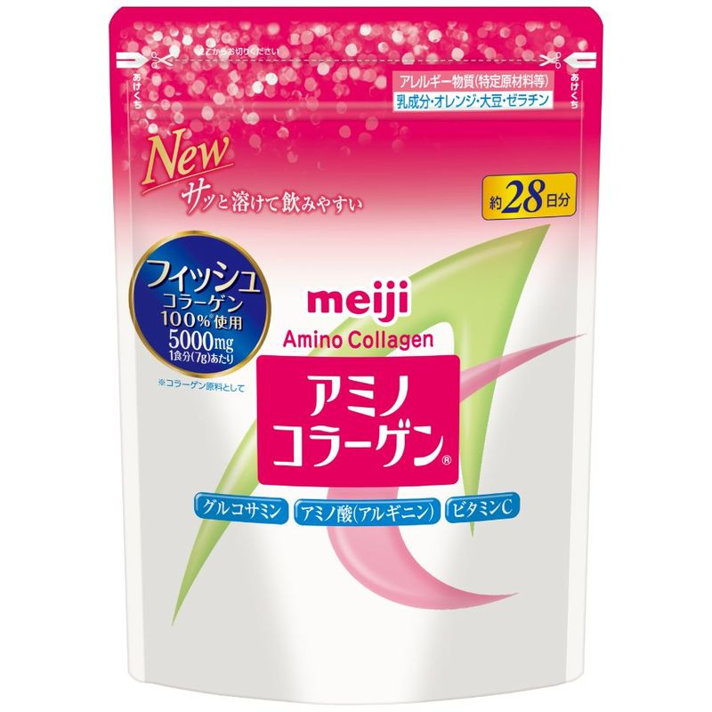 Meiji Amino Collagen Regular Refill, 214g