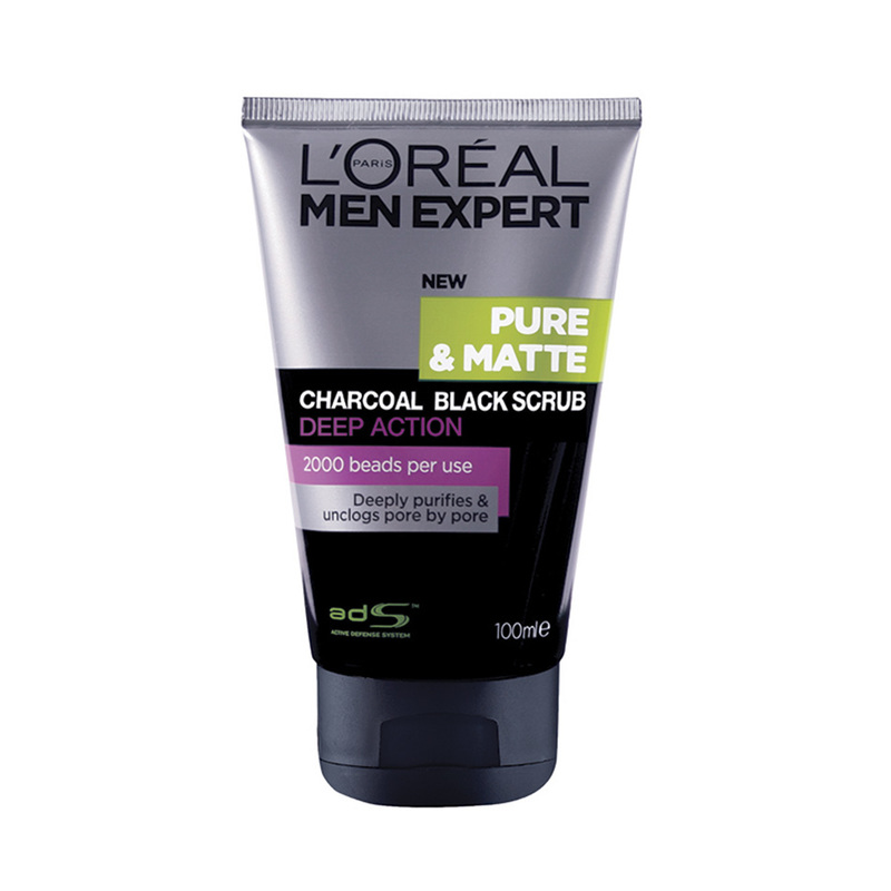 LOREAL PARIS MEN EXPERT men expert pure matte charcoal black scrub 100ml