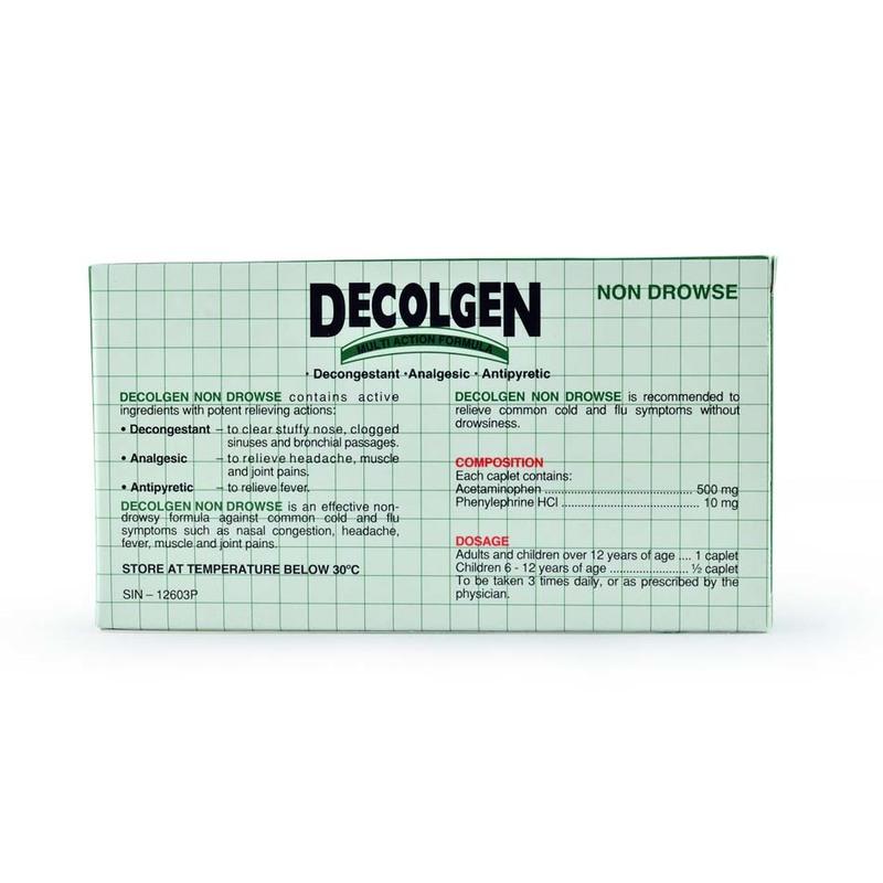 Decolgen Cold & Flu Reliever, 20 capsules