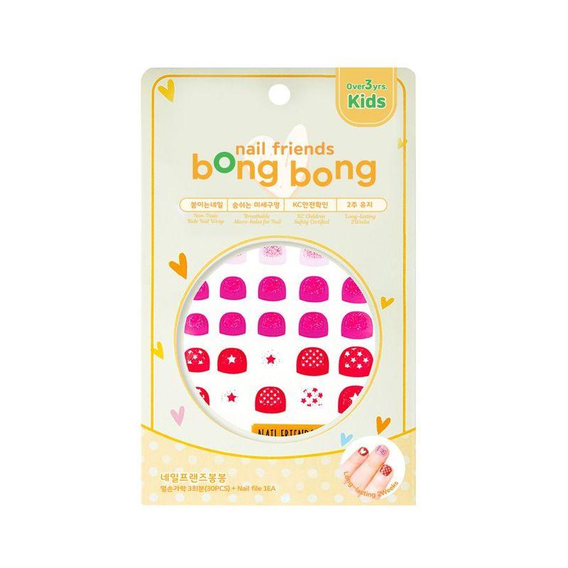 Bong Bong Friends Nail Friends Glitter Pink
