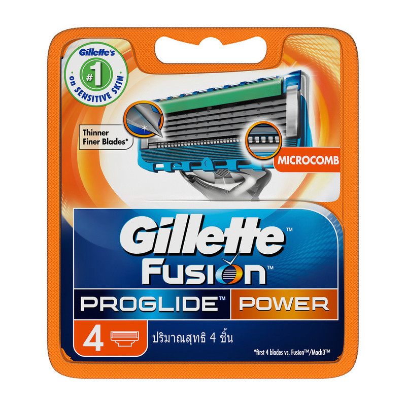 Gillette Fusion ProGlide Power Refill, 4pcs