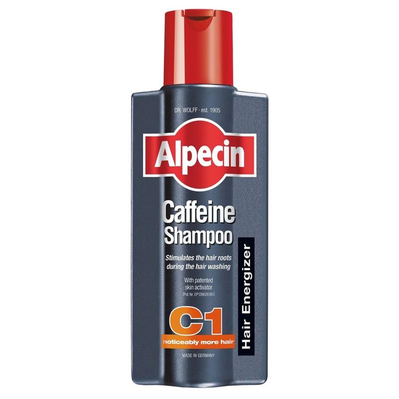 Alpecin Caffeine Shampoo C1 – Strengthens hair growth and reduces hair loss, for men 375mL