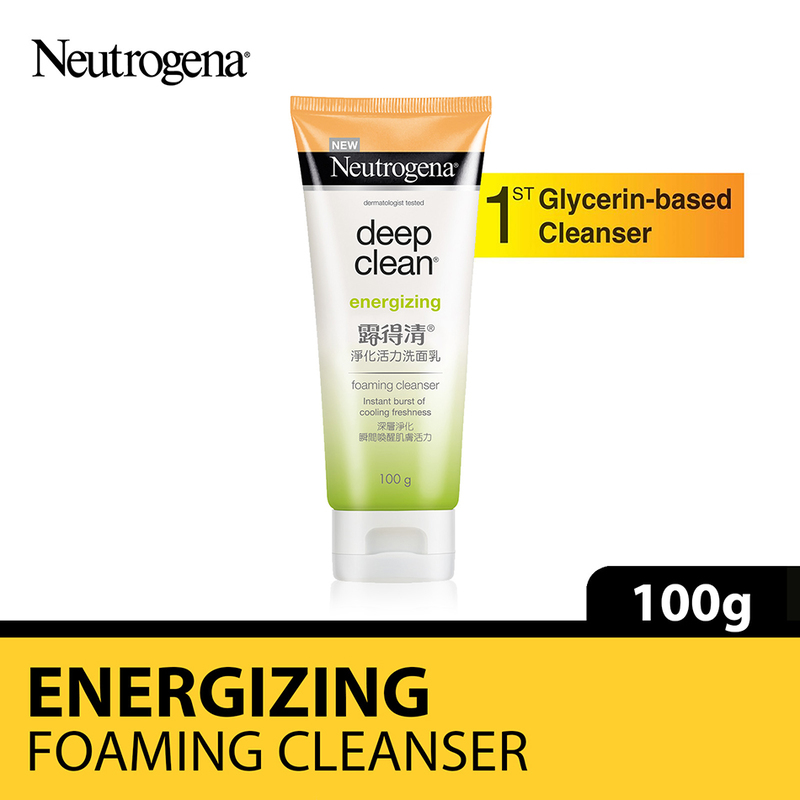 Neutrogena Deep Clean Energizing Foaming Cleanser, 100g