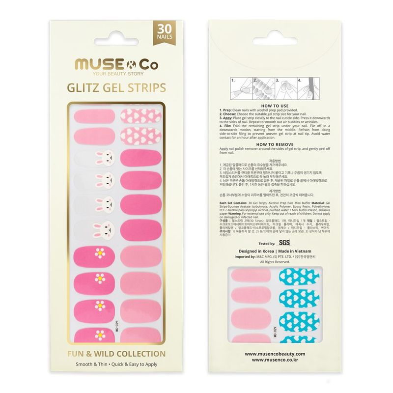 MUSE & Co - Glitz Gel Strips - Happy Bunny
