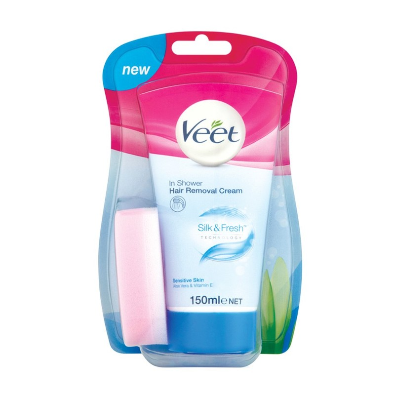 Veet In-Shower Hair Removal Cream Sensitive, 150ml