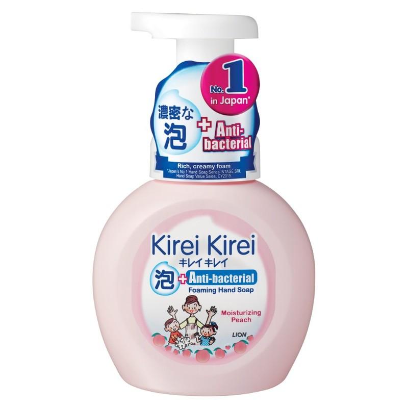 Kirei Kirei Anti-Bacterial Foaming Hand Soap Moisturizing Peach, 250ml