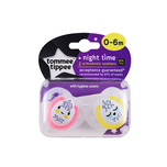 Tommee Tippee 0-6m Night time Soother x2pcs