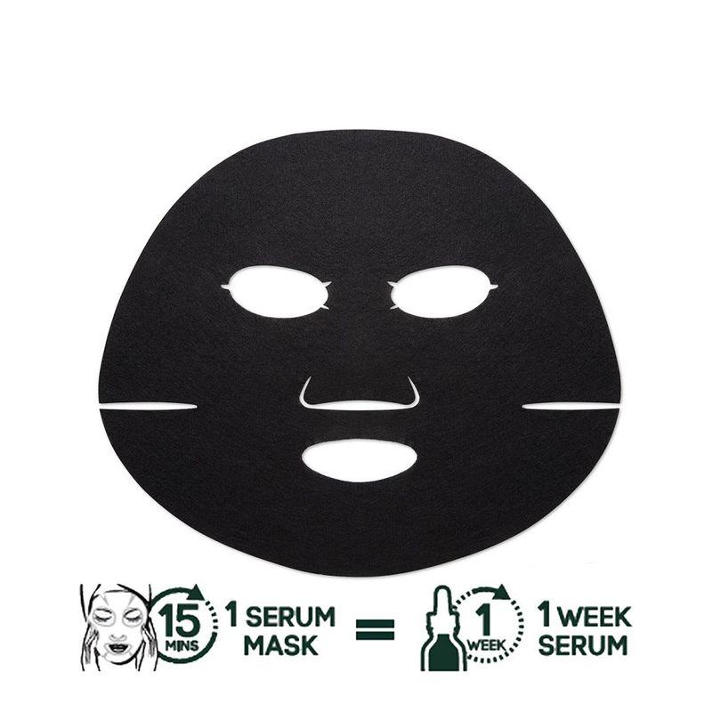 Garnier Black Serum Mask Pure Charcoal Algae - Purifying & Hydrating Pore-Tightening Tissue Mask
