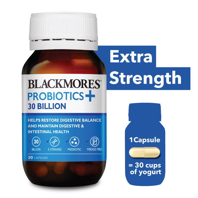 Blackmores Probiotics+ 30 Billion, 30 capsules