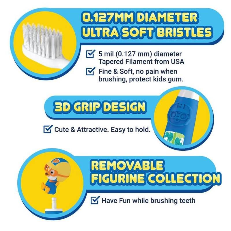 FAFC Pororo Kids Toothbrush - Petty Figurine