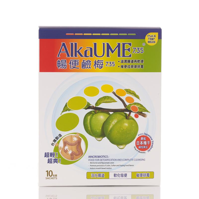 Alkaume 7.35 Umeboshi Cleanse Detox Natural Fruit & Fiber 10 bags