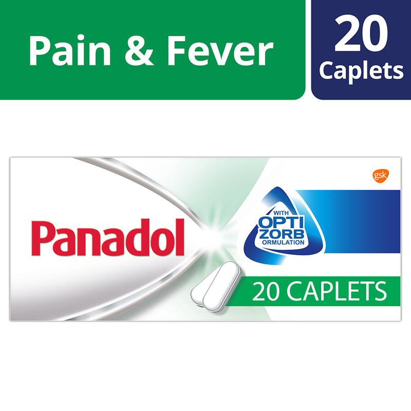 Panadol with Optizorb, 20 caplets