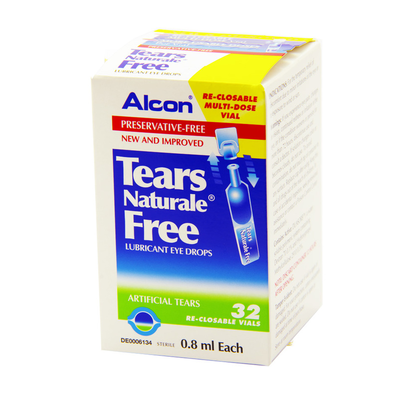 Alcon Tears Naturale Lubricant Eye Drops, 32pcs