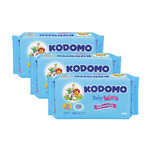 Kodomo Refreshing Baby Wipes Triple Pack, 3x70pcs