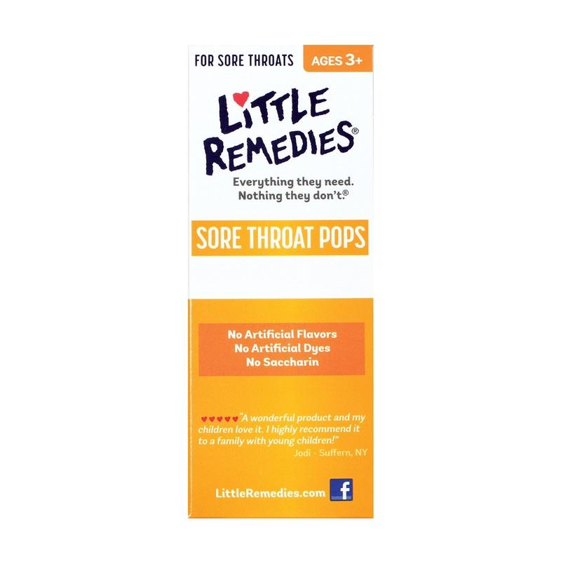 Little Remedies Sore Throat 10 Pops