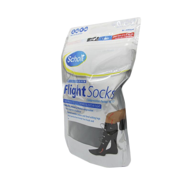Flight Socks, Black, Size 6.5 -9, 1pair