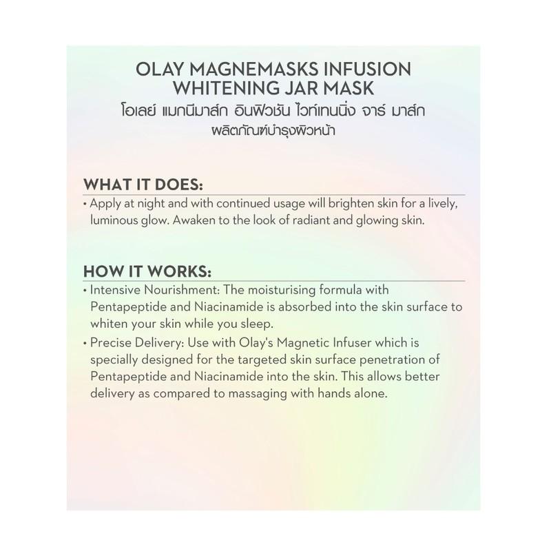 Olay Magnemasks Infusion Whitening Jar Mask