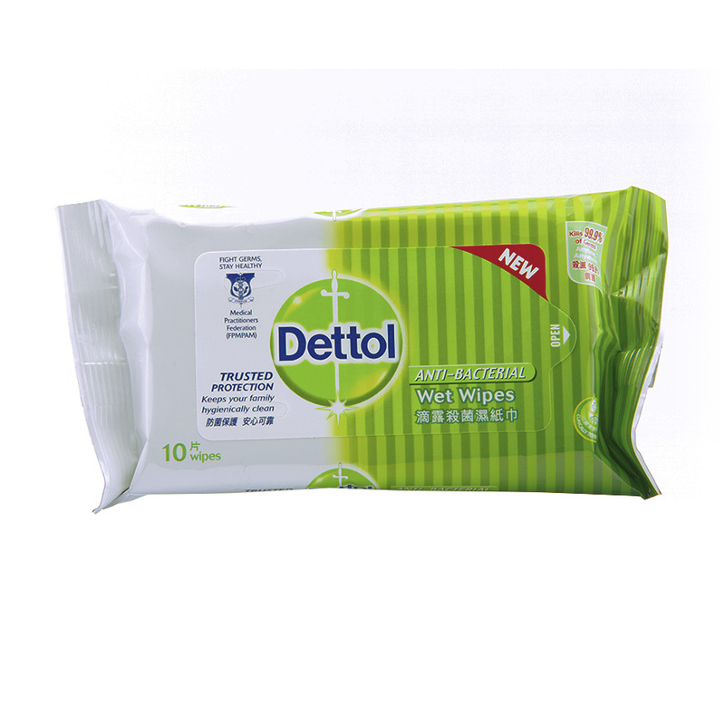 Dettol Anti-Bacterial Wet Wipes, 10pcs