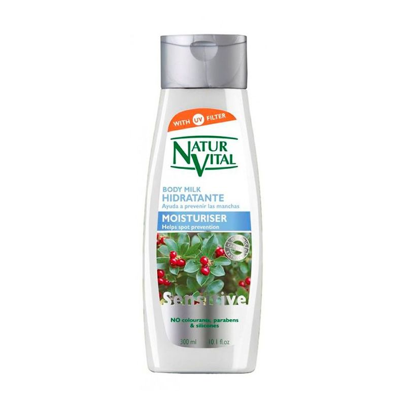 Natur Vital Sensitive Moisturiser Body Milk, 300ml