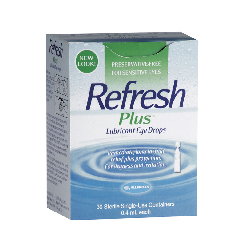 Allergan Refresh Plus Lubricant Eye Drops, 30pcs