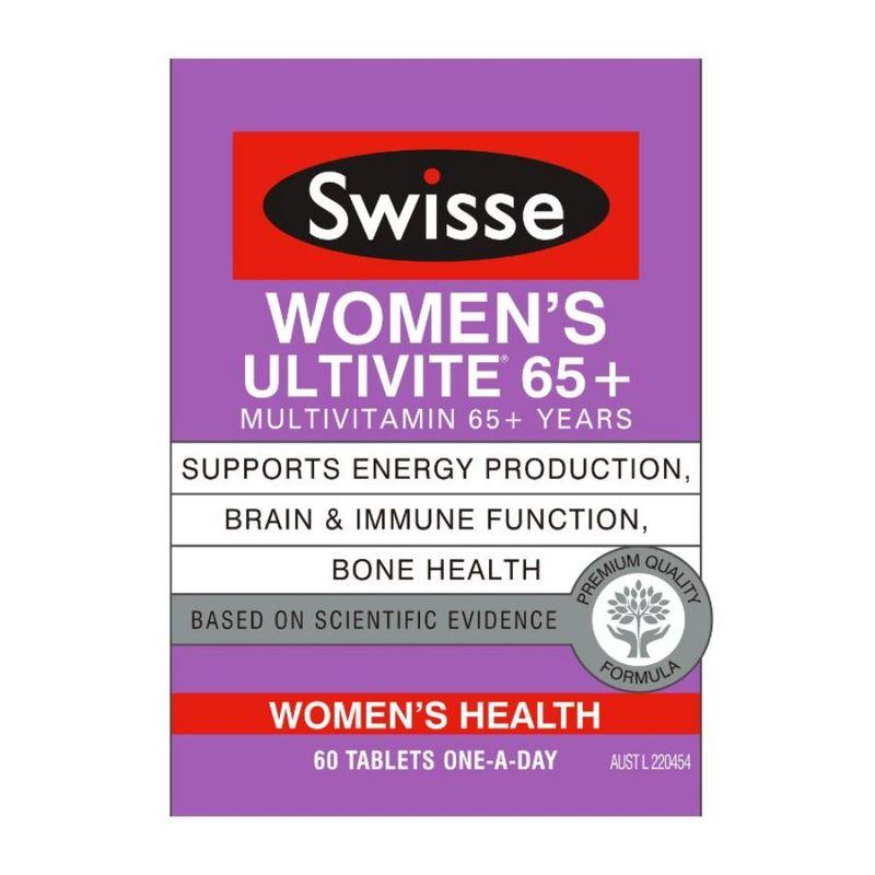 Swisse  Womens 65+ Ultivites 60 Tabs
