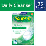 Polident Denture and Retainer Cleaning Tablets 3 Minute Daily Cleanser, 36 tablets
