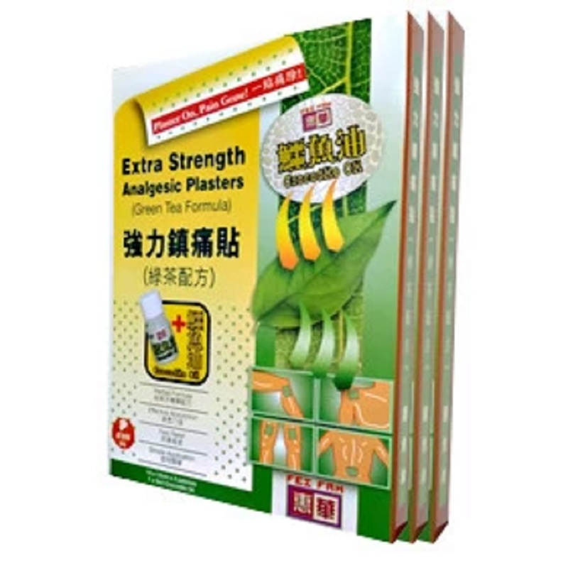 Fei Fah Green Tea Plaster Plus, 4x3pcs