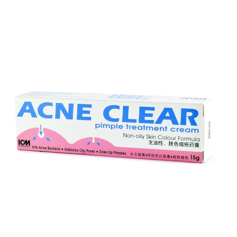 ICM Pharma Acne Clear Pimple Treatment Cream, 15g