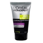 L'Oreal Men Expert Pure and Matte Charcoal Black Scrub (Deep Action) 100mL