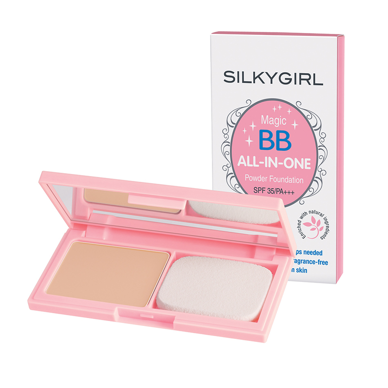 SilkyGirl Magic Bb All-In-One Powder Foundation - 02 Natural 9g