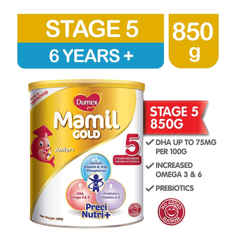 Dumex Mamil Gold Step 5 Kid's Milk Formula, 850g
