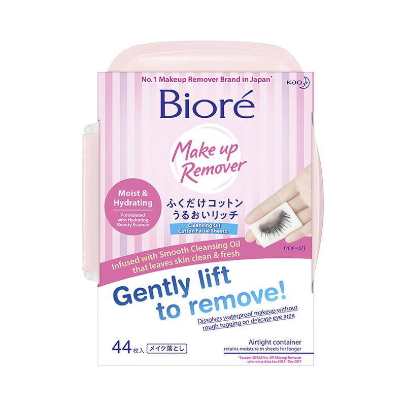 Biore Cleansing Sheet Moist Tub, 44 sheets