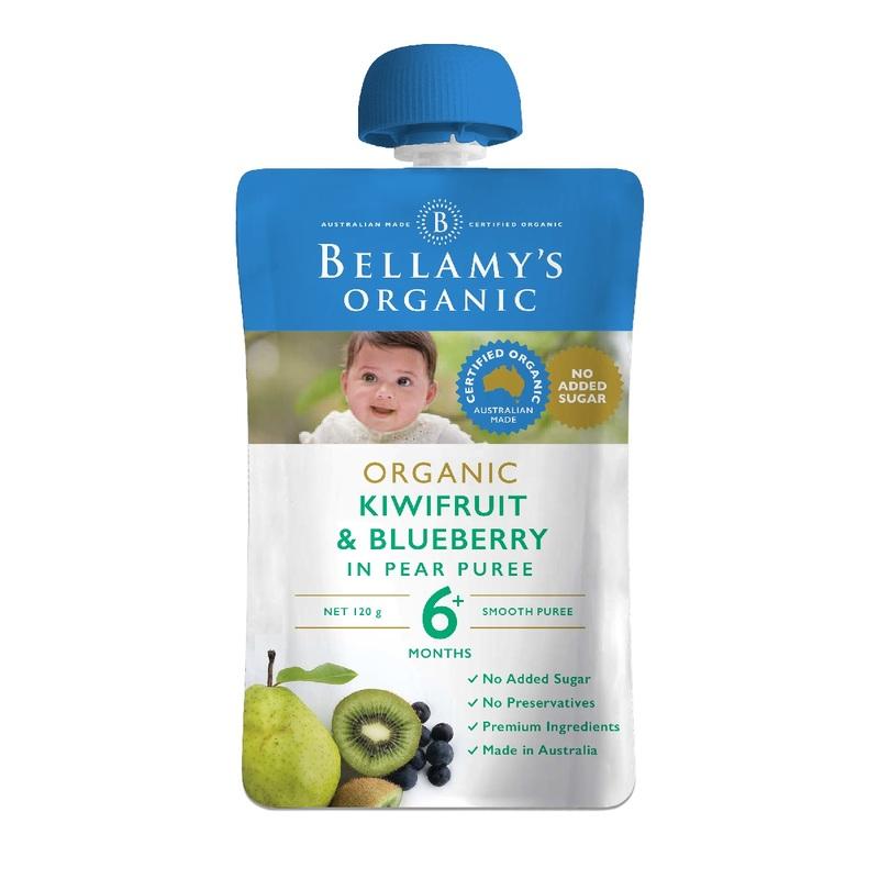 Bellamys Kiwi&Blubry In Pear 120g