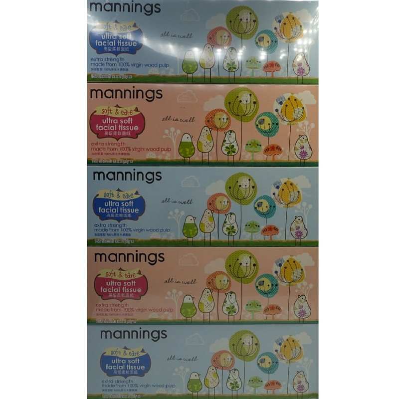 Mannings Neutral Box Tissue 5boxes