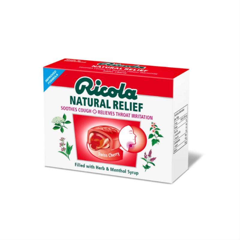 Ricola Natural Relief Lozenges Swiss Cherry, 15pcs